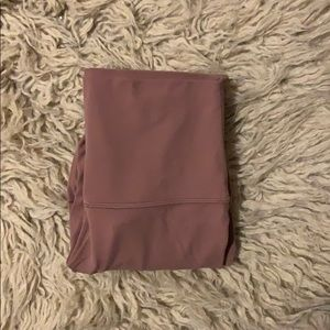 dusty rose lululemon's. 23' crop.